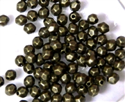 75PC Antique Brass Faceted Round Spacer 4mm
