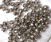 75PC Antique Silver Faceted Round Spacer 4mm