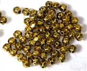 75PC Antique Gold Faceted Round Spacer 4mm