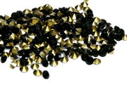 50pc 4mm rhinestone point backs jet black