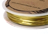 6m 22 Gauge thickness Brass Wire Gold