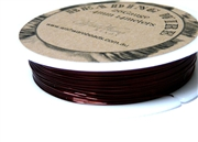 14m 26 Gauge thickness Brass Wire Dark Brown