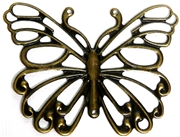 1pc Antique Brass Flat Butterfly 66x50mm