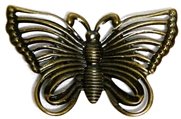 2pc Antique Brass Filigree Butterflies 44x28mm