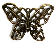 4pc Antique Brass Butterfly Charm 31x22mm