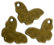 4pc Antique Brass Butterfly Charms 24x16mm
