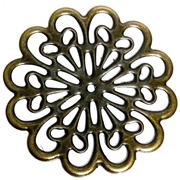 1pc Antique Brass Filigree Base Flower 60mm