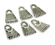 3pc antique silver handbag charms 16x12mm