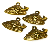 4pc antique brass hat charms 20x12mm