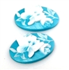 4pc blue butterfly cameo cabochon 25x18mm