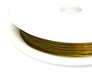 50m reel tigertail gold plated