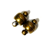2pc Antique Brass Magnetic Clasps 8mm