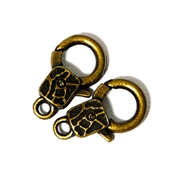 2pc Antique Brass Toggle Clasps Lobster Clasps Square 24x14mm