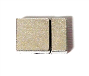 1pc Silver plated Square Clasp Glue In End 22x14mm