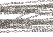 1M Antique Silver 3 Loop Chain 3mm