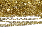 1M Antique Gold Peanut Chain 3mm