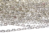 1M Antique Silver Peanut Chain 3mm