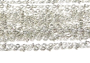 1M Antique Silver Bead Link Chain 2mm