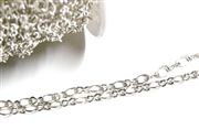 1M Antique Silver Oval 2 Link Chain 3mm
