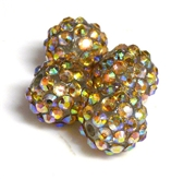 2pc 10mm acrylic rhinestone rounds smoke