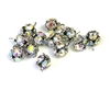 10pc rhinestone balls 6mm silver clear ab