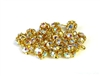 10pc rhinestone balls 6mm gold plated clear ab