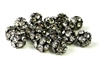 4pc rhinestone rounds nickel plated clear crystal 10mm