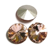 3pc Crystal Rivoli Stone 14mm Pink