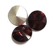 3pc Crystal Rivoli Stone 14mm Burgundy