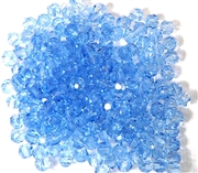 30pc Faceted Round Crystals Light Sapphire 4mm