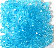 30pc Faceted Round Crystals Aquamarine Blue 4mm