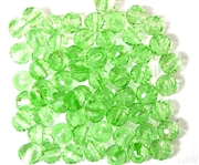 20pc Faceted Round Crystals Peridot Green 6mm