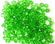 30pc Faceted Round Crystals Dk Peridot Green 4mm