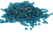 10gm 11/0 seed beads czech teal frosted ab