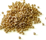 10gm 11/0 toho seed beads metallic gold