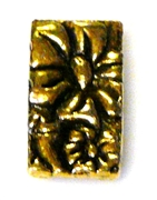 3pc gold plated flower 3 strand slider bead
