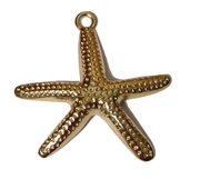 3d starfish pendant gold