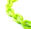 40cm (36 links) acrylic faceted chain green