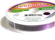 30ft plum purple econoflex softflex tigertail .019mm