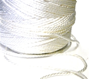 10m 1mm satin cord white