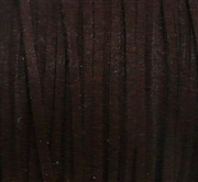 4m flat faux suede 3mm width brown