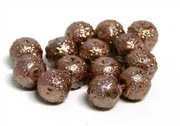 10pc Sugar Glass Pearls 8mm Coffee