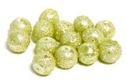 10pc Sugar Glass Pearls 8mm Lime