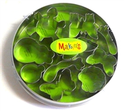 10pc makins clay cutter tin round