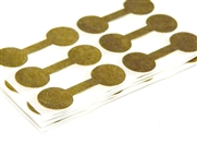 48 metallic gold jewellery tags round