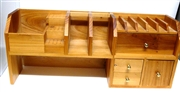 Wooden Desk Beading Tool Organizer With Draws