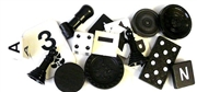 10pc assorted vintage game pieces black