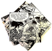 20pc assorted comic book squares black and white action