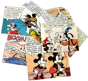 25pc assorted comic book squares mickey, minnie + goofey