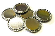6pc flattened bottlecap bases